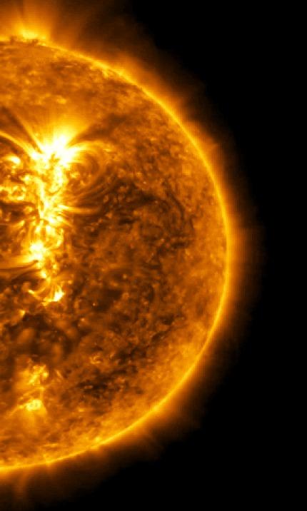 Венера проходит на фоне Солнца