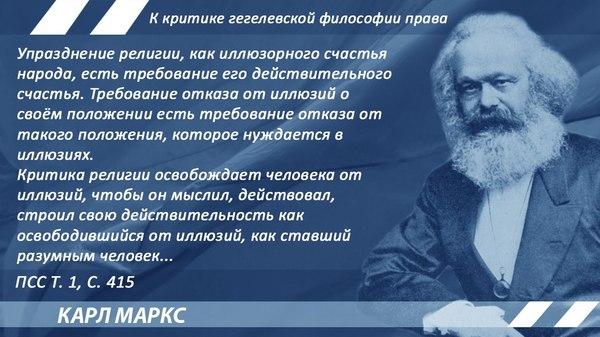 Маркс о религии Маркс, религия, критика, цитаты