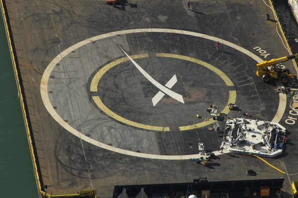 Робот для захвата приземлившейся ступени от SpaceX Космос, Spacex, Falcon 9, Робот, Длиннопост
