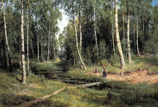 Иван Шишкин «Ручей в берёзовом лесу», 1883 год.