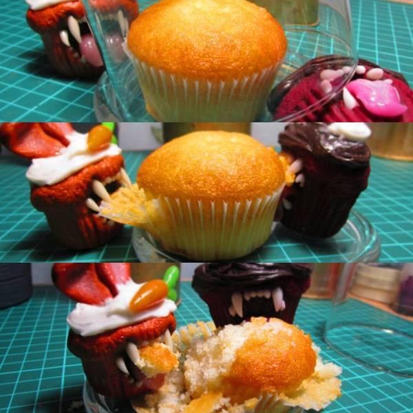 Кексы-каннибалы Nooboslowpokopanda, полимерная глина, своими руками, сладости, кекс, ручная работа