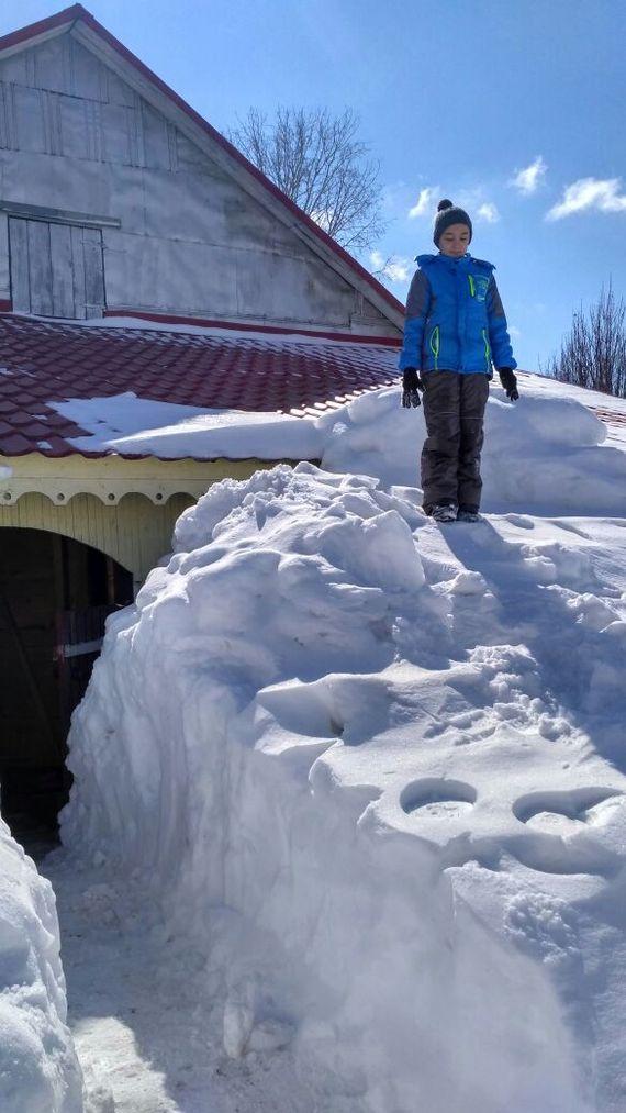Снег под Уфой зима, Россия, Уфа