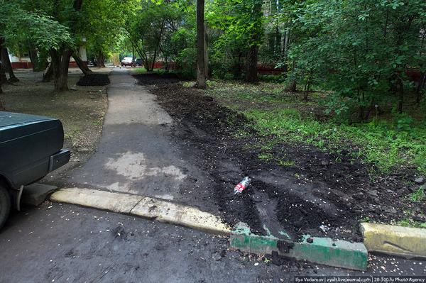 Откуда в наших городах берётся грязь? Часть первая: открытый грунт Благоустройство, Город, Городская среда, Грязь, Длиннопост