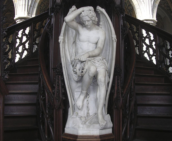 """Забавная история с """"Духом Зла"""" братьев Гефс мрамор, люцефер, скульптура, Бельгия, длиннопост"""