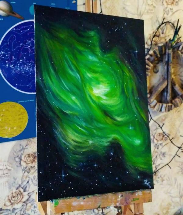 Новый Космос от меня с: Katie Shapo, арт, наркотики, Nebula, туманность, звёзды, вселенная, космос, длиннопост