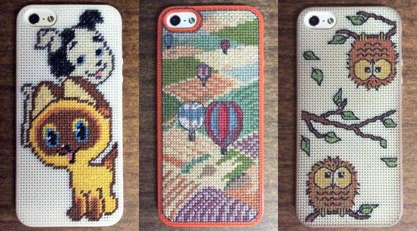 Чехлы для телефона с вышивкой и индивидуальным дизайном чехол, вышивка, handmade, iphone, рукоделие, ручная работа, котенок Гав, сова, длиннопост