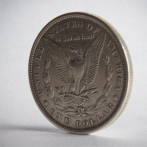 Кольцо из серебряного доллара Моргана. Кольцо, Кольцо из монеты, Монета, Доллары, Морган, Серебро, Гифка, США, Длиннопост