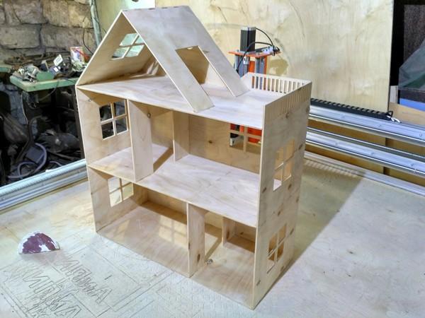 Кукольный домик ЧПУ, фанера, сделай сам