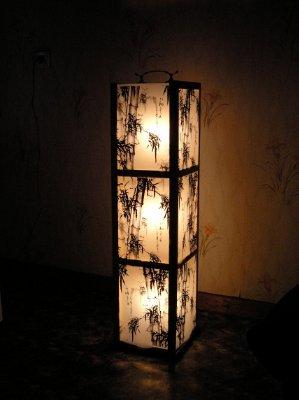 Напольный светильник своими руками