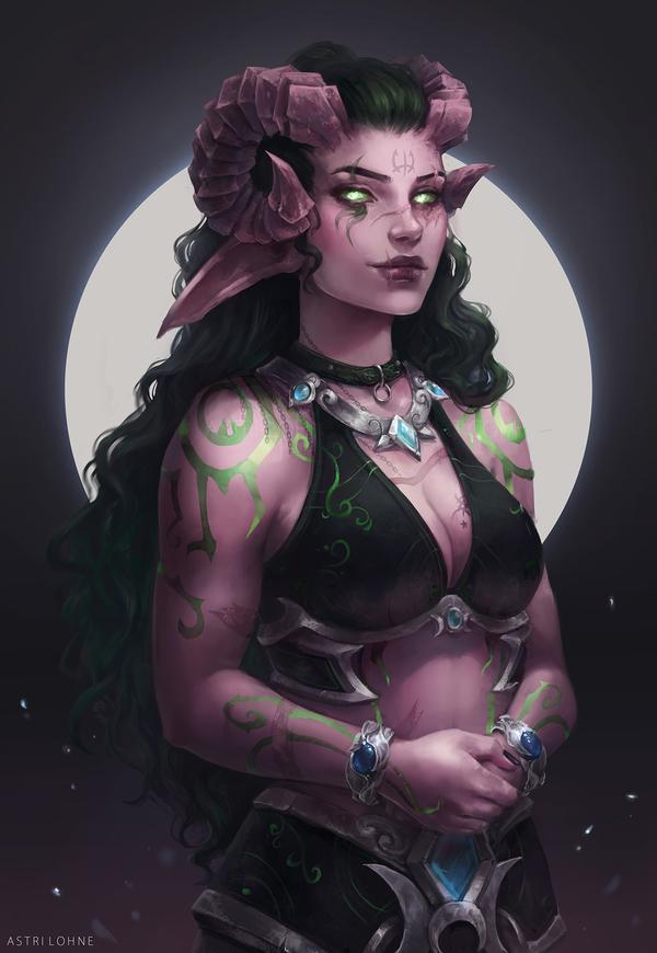 Illidari Арт, Wow, Warcraft, Ночные эльфы, Demon hunter