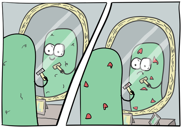 Первое бритьё Комиксы, бритье, чилик, длиннопост