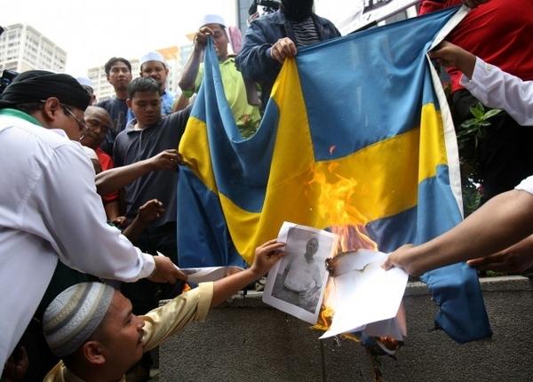 Мигранты закидали камнями и коктейлями молотова группу антитеррора полиции в Швеции новости, Швеция, мигранты, теракт, стокгольм, Европа