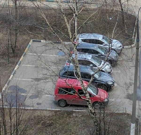 Сосед занял машиноместо чужое