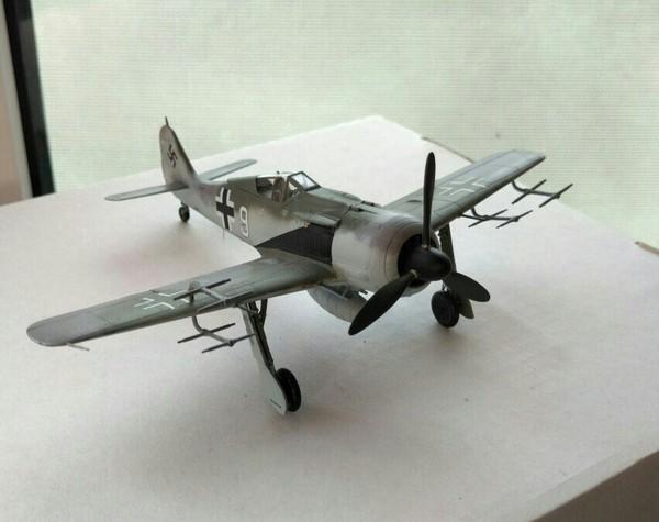 Fw 190A-8/R11 flown by Fhj. Ofw. Gunther Migge, 1./NJGr. 10, Werneuchen, Germany, 1944 Моделизм, Люфтваффе, Fw190, Масштаб 72
