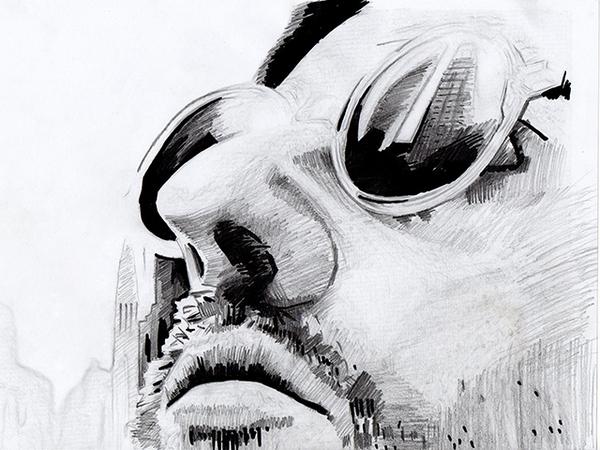 """Рисунок карандашом """"Леон киллер"""""""