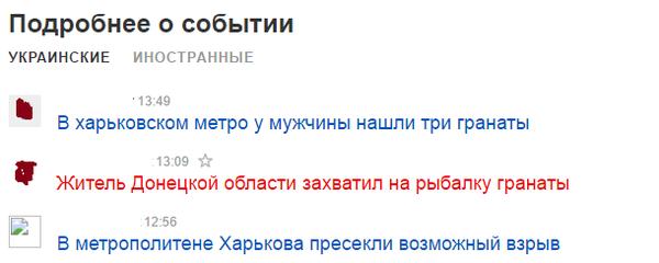 Сколько источников, столько и названий Украина, Харьков, метро, гранаты, новости, Политика