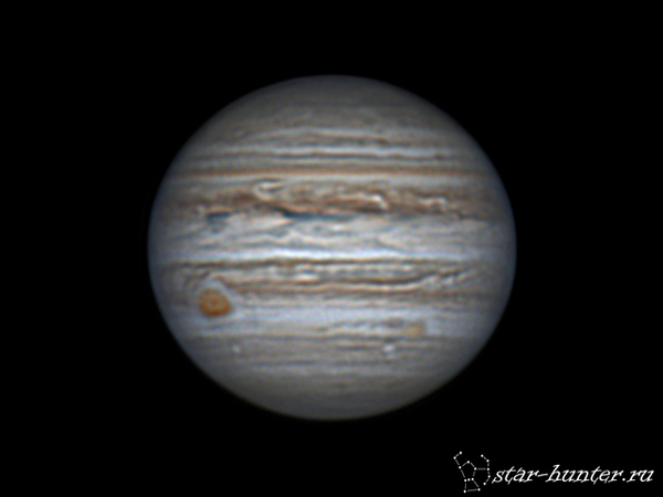 Юпитер, 11 апреля 2017 года, 22:08. Юпитер, астрофото, астрономия, космос, планета, Краснодар, КраснодарБалкон, starhunter, гифка