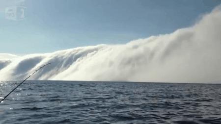 Туманное цунами Природа, Цунами, Туман, Красота, Гифка