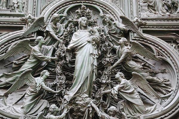Двери кафедрального собора Дуомо в Милане Бронза, Горельеф, Дверь, Длиннопост