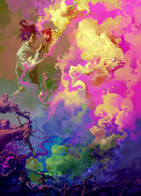 Кошмар кошмар, сон, магия, фантастика, фэнтези, психоделика, живописно, бред