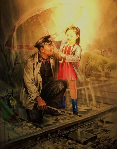 �скусство Северной Кореи Картина, Северная корея, �скусство, Длиннопост