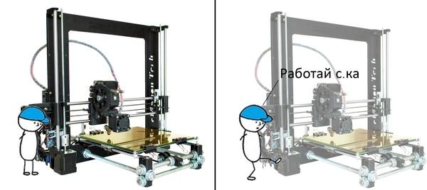 что из себя представляет 3д принтер