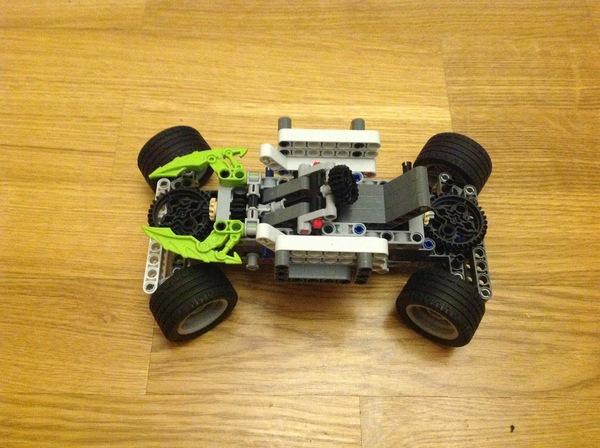 Машинка из лего с рулевым управлением Lego technic, Конструктор, 3d модель, Длиннопост