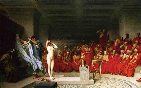 «Фрина перед Ареопагом» — Жан-Леон Жером, 1861 год. История на картинах, Живопись, Античность