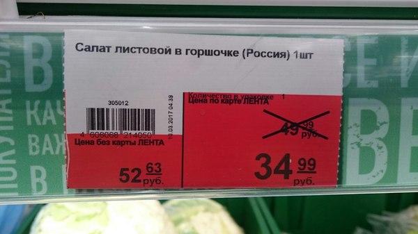 """Листья салата в """"золотом"""" горшочке продукты, Магазин, длиннопост"""