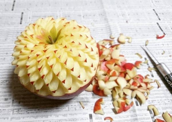 Резьба по фруктам и овощам Резьба, Резьба по еде, Длиннопост, Еда, Овощи и фрукты, Карвинг