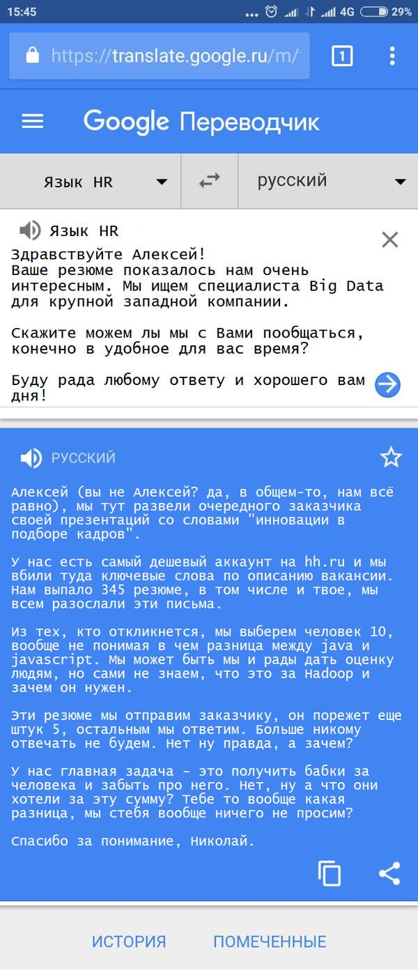 Язык HR Отдел кадров, Рекрутинг, Перевод
