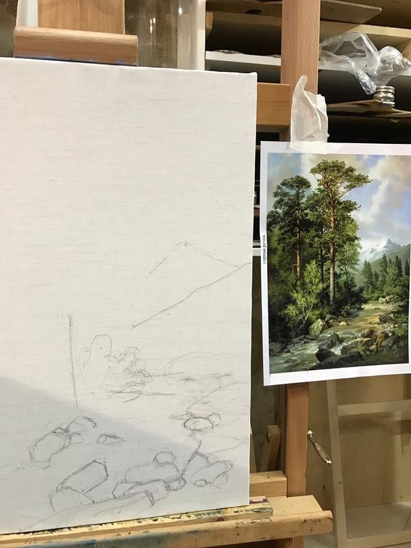 Когда музыкант решил писать маслом...(длинопост) пейзаж, картина маслом, Природа, Infiniamena, длиннопост
