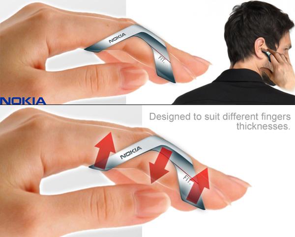 Пальцевый телефон NOKIA Fit пальцы, техника, телефон на паьце, гаджеты, будещее, видео, длиннопост