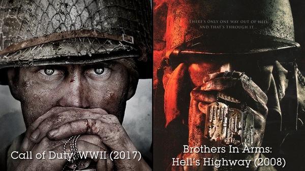 Постер новой call of duty сильно похож на постер brothers in arms 2008 года