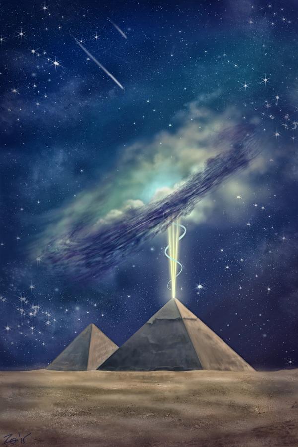 Моя графика. ч.3. Снова Digital art. Пустынная тема. Графика, Digital, Пирамида, Пустыня, Длиннопост