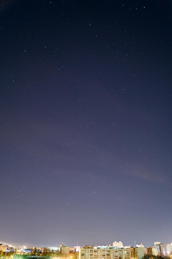 Город под звёздами фотография, звезда, Небо, звездное небо, ночь, астрофото