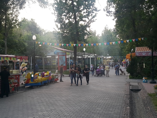 Ташкент. Парк Тельмана. Вечер Ташкент, Парк Тельмана, Вечер, Длиннопост