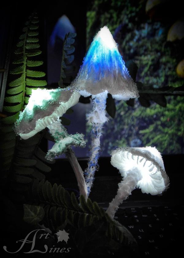 Грибы светильники светильник, светильник ручной работы, грибы, ночник, рукоделие без процесса, handmade, ручная работа, длиннопост