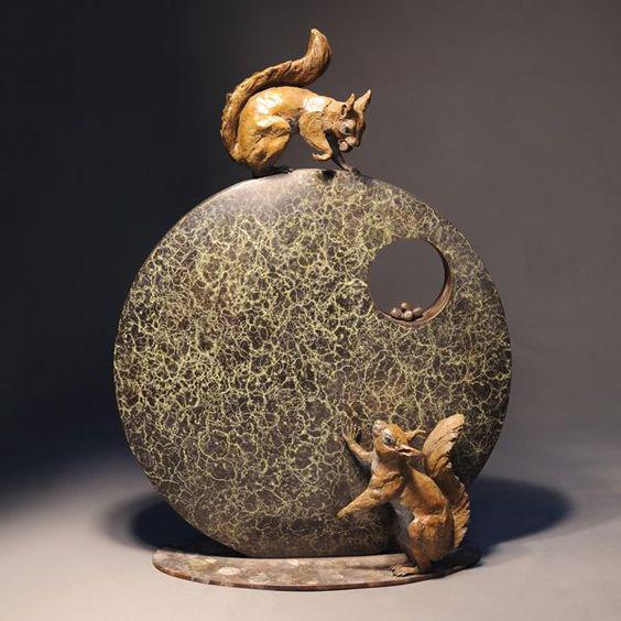 Животные Теодора Гиллика анималистика, скульптора, бронза, камень, Theodore Gillick, длиннопост