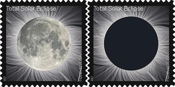 Почта США выпустит марку с солнечным затмением. Если ее потрогать, проявится Луна Луна, Затмение, Космос, Почтовые марки, Почта