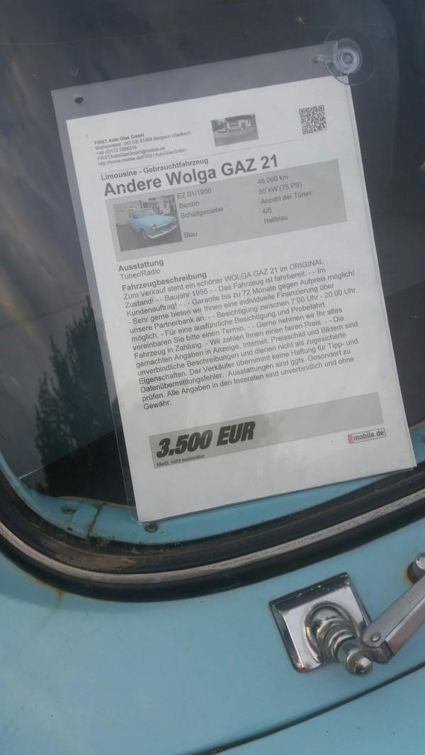 Вот такого монстра продают у нас в Кёльне, Германия Германия, Газ-21