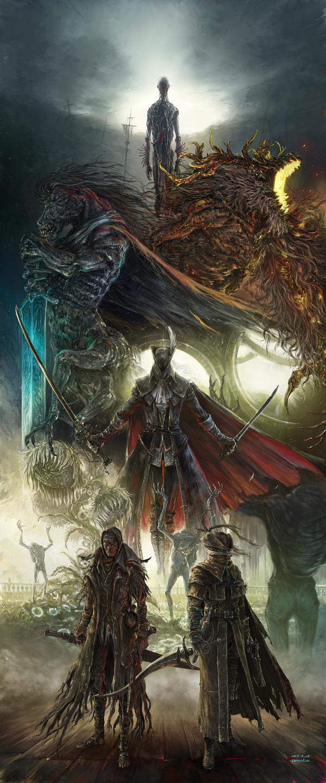 Bloodborne Bloodborne, Арт, Bloodborne The Old Hunters