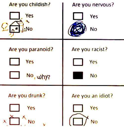 Кто ты? Тест, Кто ты?, Психология