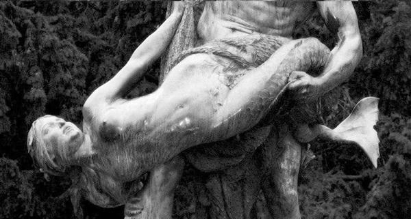 Улов рыбак, скульптура, Берлин, бронза, русалка, длиннопост
