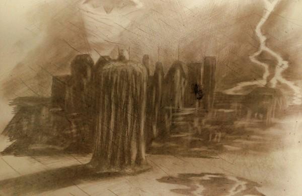 Не судите строго, впервые такое рисую Бэтмен, Рисунок, Фотография