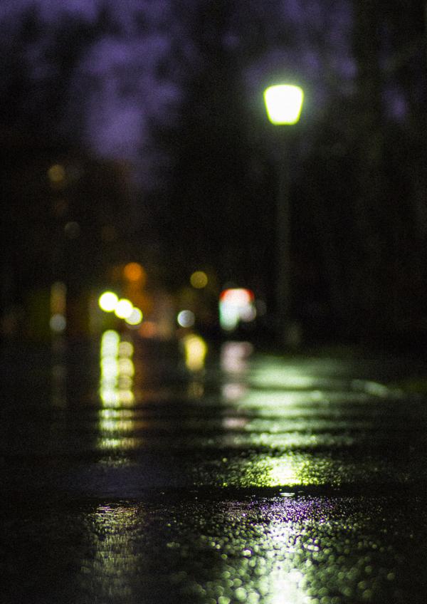 Немного ночного расфокуса Ночь, Плохое зрение, Мокрый асфальт, Новосибирск, Центральный парк, Canon, Моё, Длиннопост