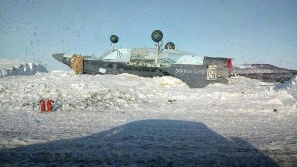 МиГ-29 К греет пузико на скудном,зимнем солнышке.