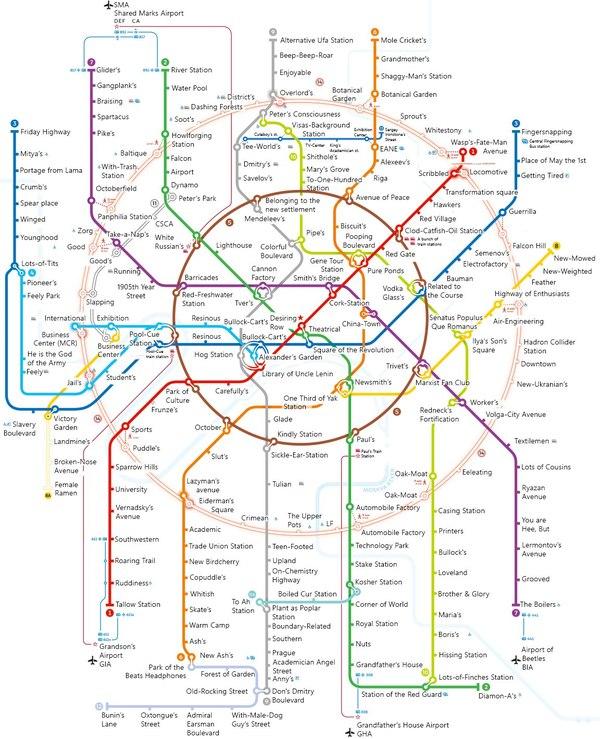А вот так названия станций метро должны быть переведены на самом деле Метро, Перевод, Не мое