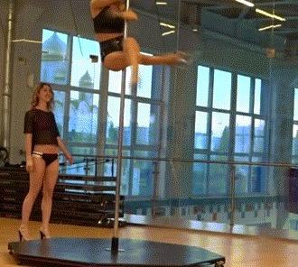 Прокатишь? Запросто. Pole dance, Exotic pole dance, Спорт, Гифка