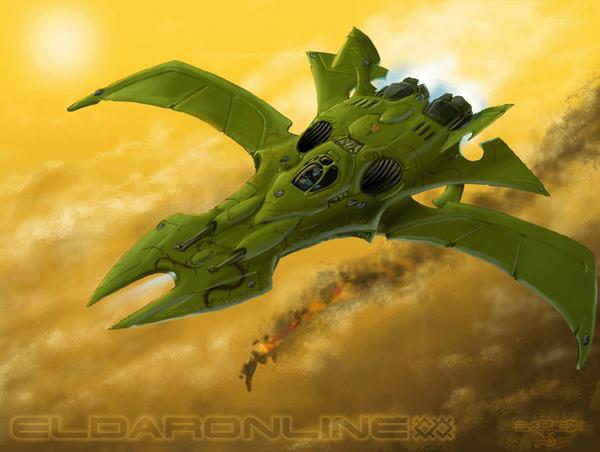 Эльдарские корабли звездолеты, космос, wh art, eldar, Warhammer 40k, длиннопост
